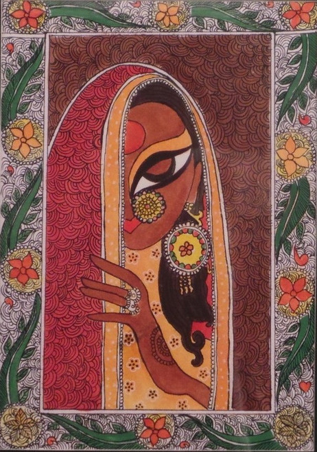 Buy Women Madhubani Painting Handmade Painting By Gautam
