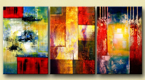 Hues Of Strength 72in X 32in 24in X 32in Each X 3pcs