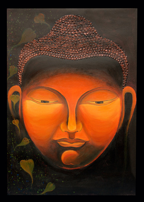 buy orange buddha by anand lad rs 147690 code art