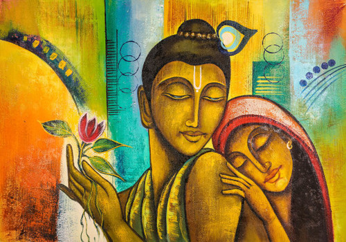 Buy Radha Krishna Love by Community Artists Group@ Rs ...