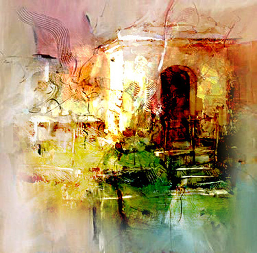 5 Clever Painting Ideas: Buy Creative Landscape Art By Vekkas M@ Rs. 8590. Code:ART