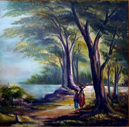 Buy Nature Art 1 by Uma Nath Maurya@ Rs. 39490. Code:ART_UAMA05_2424 ...