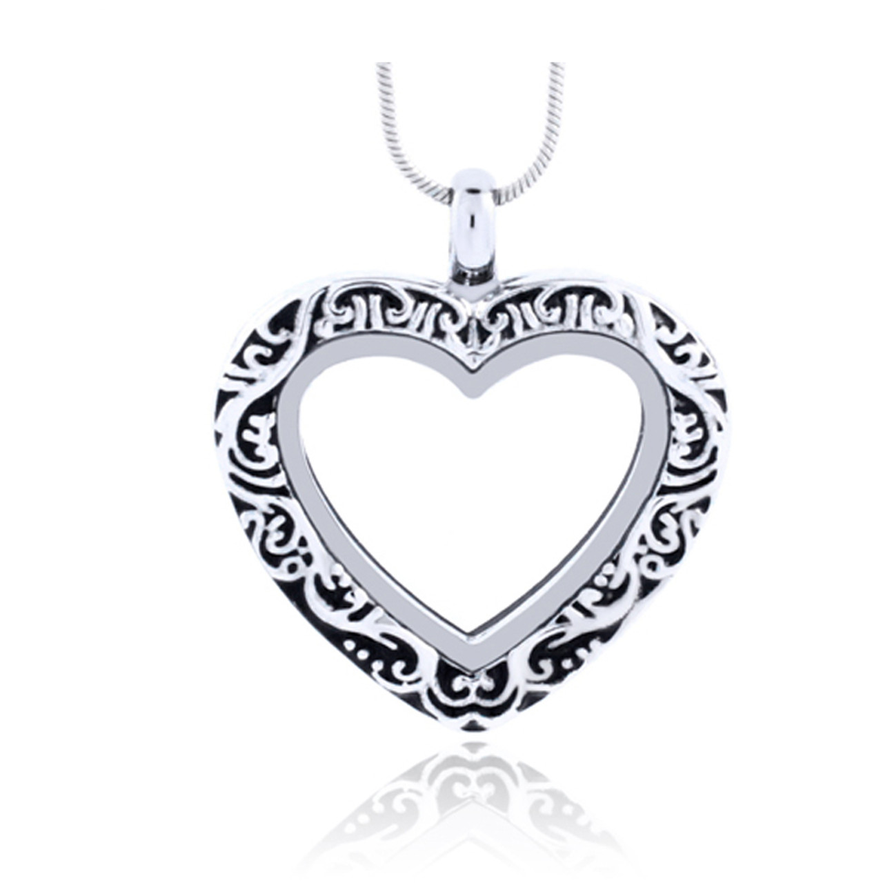 Diylocket jewelry wholesale silver color vintage heart floating vintage silver heart magnetic glass floating charm locket pendant alloy ancient pattern pendant lsfl07 1 aloadofball Choice Image