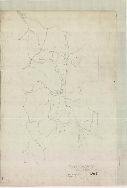 Conway 1780 - Old Town Map -