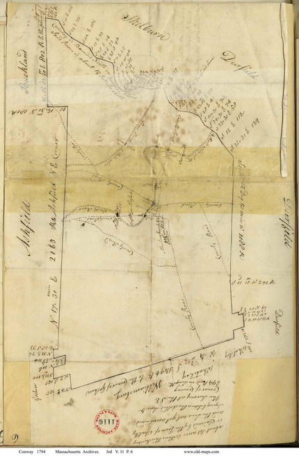 Conway 1794 - Old Town Map -