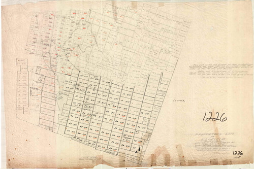 Ashfield ca1780 - Old Town Map - FDA 1226