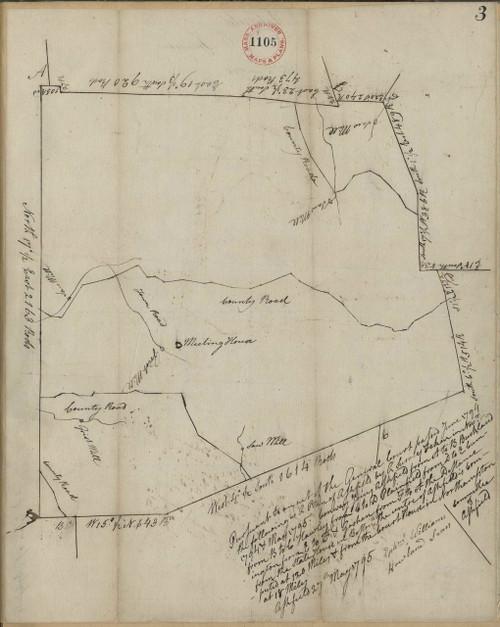 Ashfield 1794 - Old Town Map - orig copy