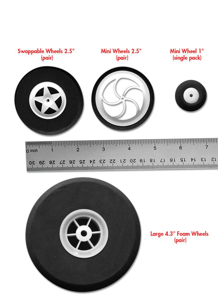 """Large 4.3"""" Foam Wheels (pair)"""