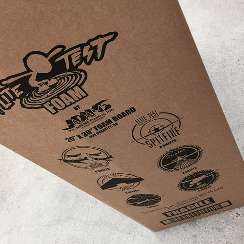 Flite Test Water-Resistant Foam Board By Adams(50 Pack)