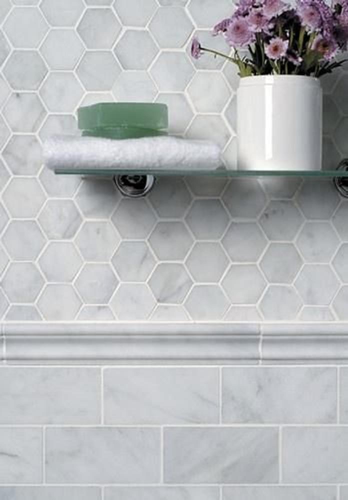 Carrara  Subway  Marble Wall Tile 75x150mm - SOLD PER TILE