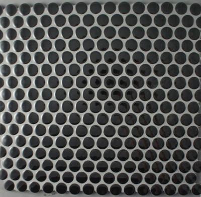 Black Gloss Penny Round Mosaic