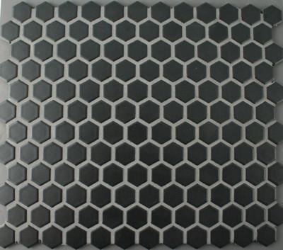 Black Matt Hexagonal Mosaic 23mm