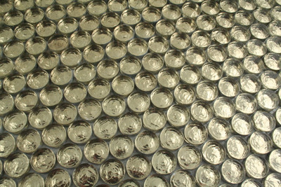 Glass Penny Round Mosaic Gold 20mm