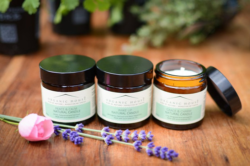 Organic House Natural Candle Pack of 3