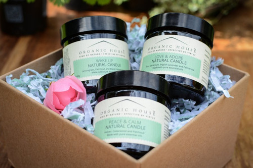 Grace And Charm Scented Candles with Lime, Bergamot and Lemongrass Gift Box