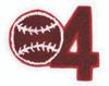 1-Digit Number w/ Chenille Sport Insert