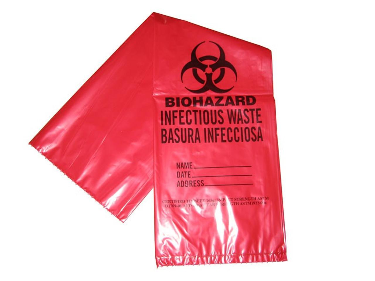 4 Gallon Bio-Hazard Waste Bags - 50/Pack