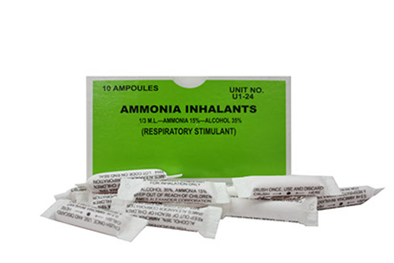 Ammonia Inhalants - 10 per Box