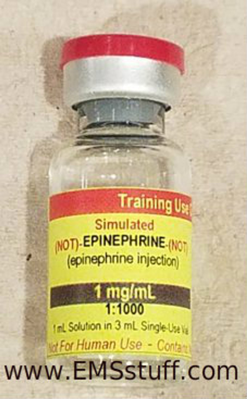Simulated Epinephrine Vial