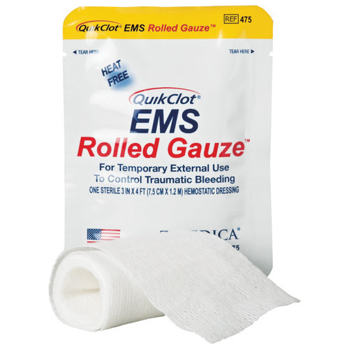 QuikClot ® EMS Rolled Gauze - 1/Pack