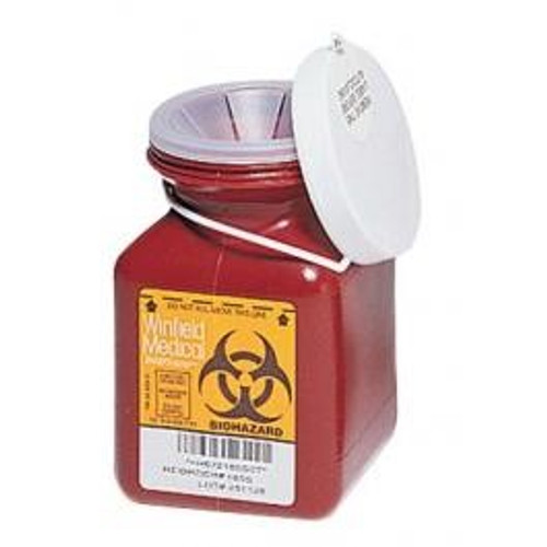 0.7 Quart Sharps Container #185S  by Medegen