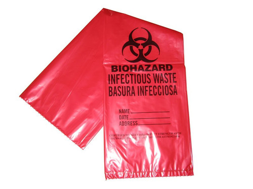 33 Gallon Bio-Hazard Waste Bags - 40/Pack