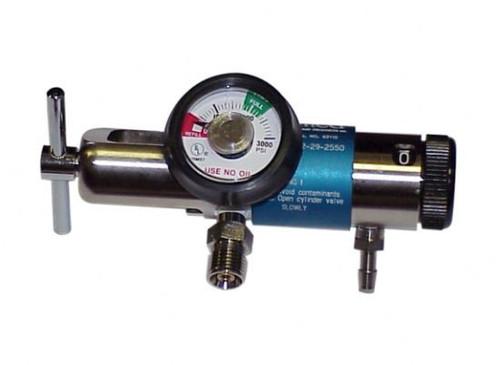 Brass Oxygen Regulator 0-25 Lpm + Dual 50psi Ports
