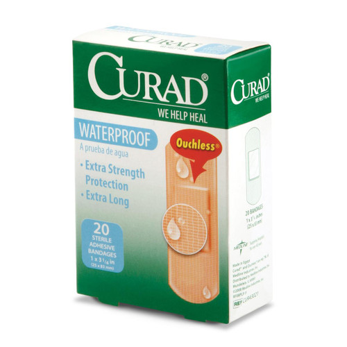 Waterproof Bandaids, Extra Strength - 20 per Box