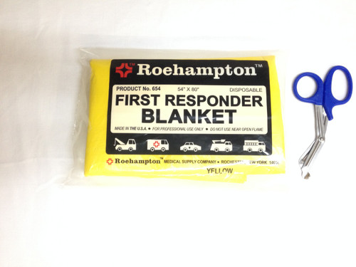 Disposable First Responder Blanket - Yellow