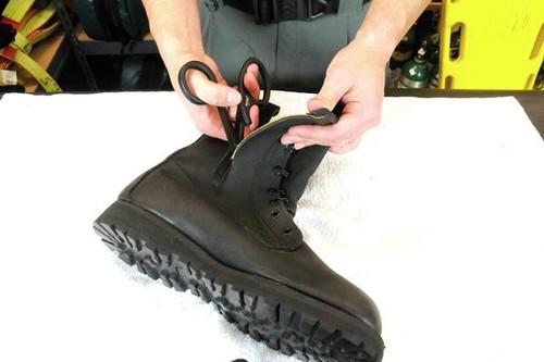 "Tactical Black Piranha Trauma Scissors with Comfort-Grip Handle 7.25"""