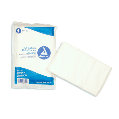 "10"" x 30"" Multi Trauma Dressing - Flat"