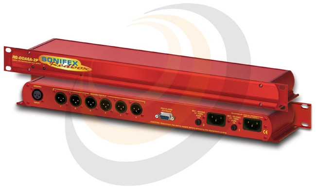 6 Way Stereo AES/EBU Digital Distribution Amplifier with Dual Power Supplies - Image 1