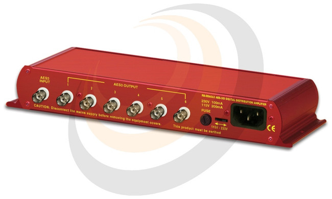 6 Way Stereo AES3ID Digital Distribution Amplifier (24 bit, 96kHz Capable) - Image 1