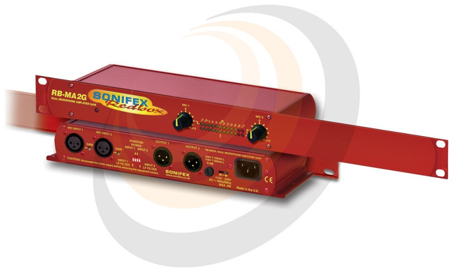 Dual Microphone Amplifier With Gain Control (1U) - Image 1