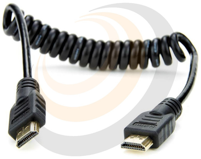 Coiled Full HDMI to Full HDMI Cable (short) - Image 1