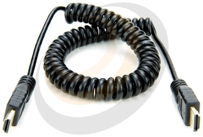 Coiled Full HDMI to Full HDMI Cable - Long - Image 1