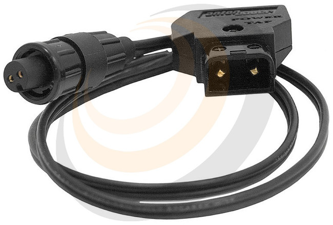 """18"""" DC cable, P-TAP connector to AJA D5/10-PC connector - Image 1"""