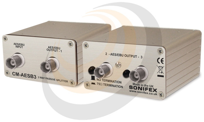 Single 3 Way Passive AES3ID Splitter With BNC Connectors - Image 1