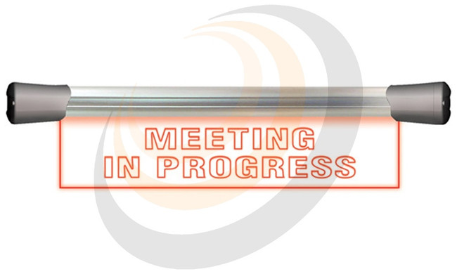 LED Single Flush Mounting 40cm MEETING IN PROGRESS sign - Image 1