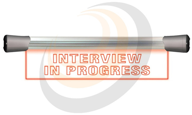 LED Single Flush Mounting 40cm INTERVIEW IN PROGRESS sign - Image 1