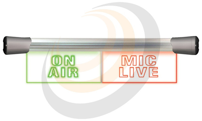 LED Twin Flush Mounting 2 x 20cm ON AIR & MIC LIVE sign - Image 1