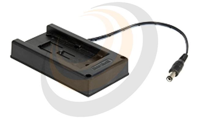 VidiU Batt. Adapter plate for Panasonic VW-VBG6 & CGA-E/625 7.2 volt batt. to Barrel Connnector - Image 1
