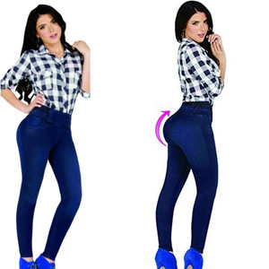 Colombian Butt Lift Jeggins Dark Blue