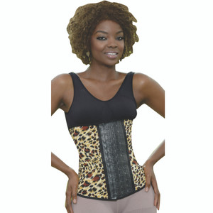 Aranza Women's Latex Waist Cincher Giraffe Animal Print