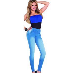 Push Up Jeggins Light Blue