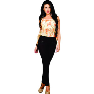 Push Up Jeggins Black