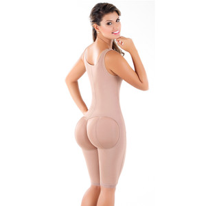 Fajas Melibelt Women's Post Surgery Powernet Cocoa Body Shaper 3018 Colombianas