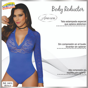 Colombian Body Blouse Shaper with Tummy Control Powernet 6209