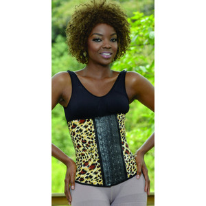 Aranza Women's Latex Waist Cincher Leopard Animal Print