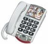 Big Button Amplified Corded Telephone with Photo Memory Buttons for Mild Hearing Loss - Clarity Model P300